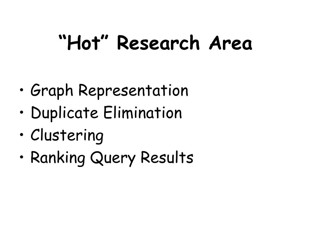 """Hot"" Research Area"