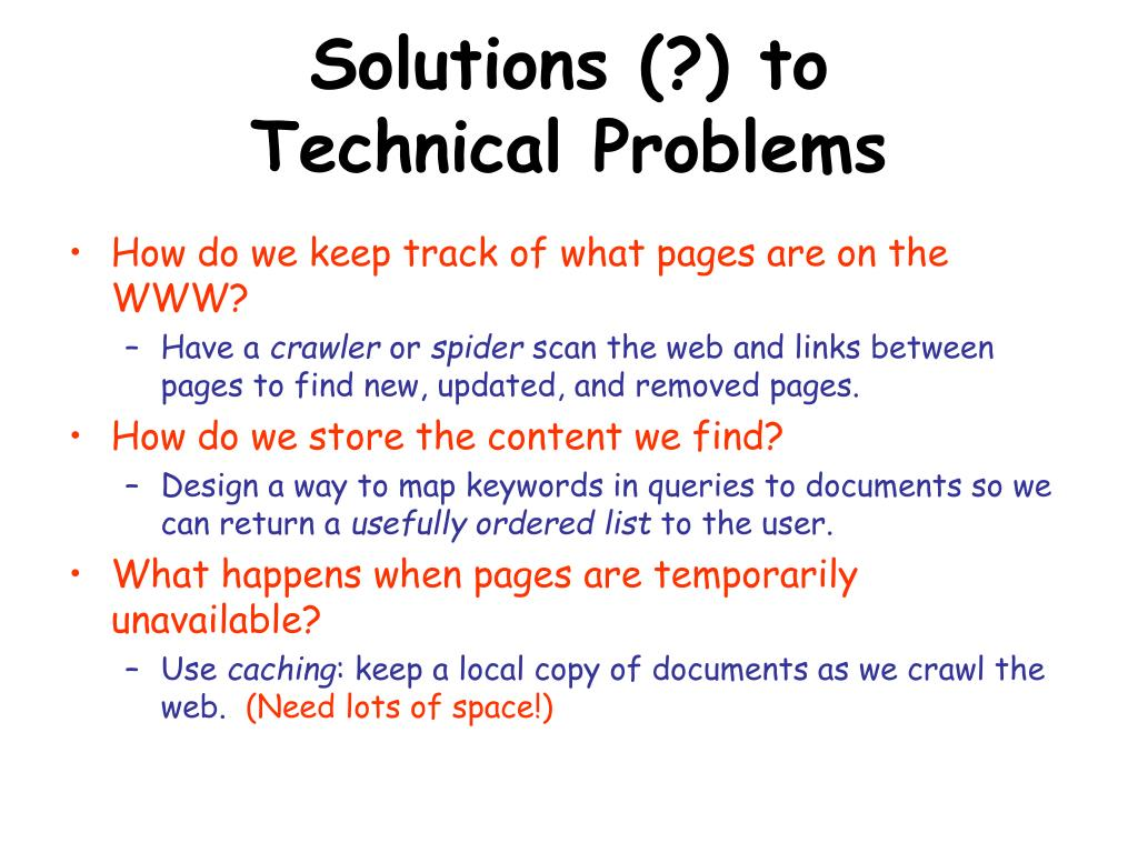Solutions (?) to