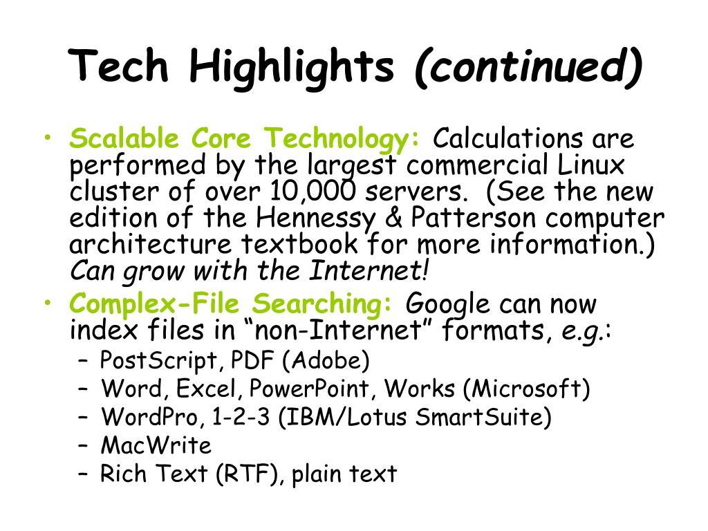 Tech Highlights