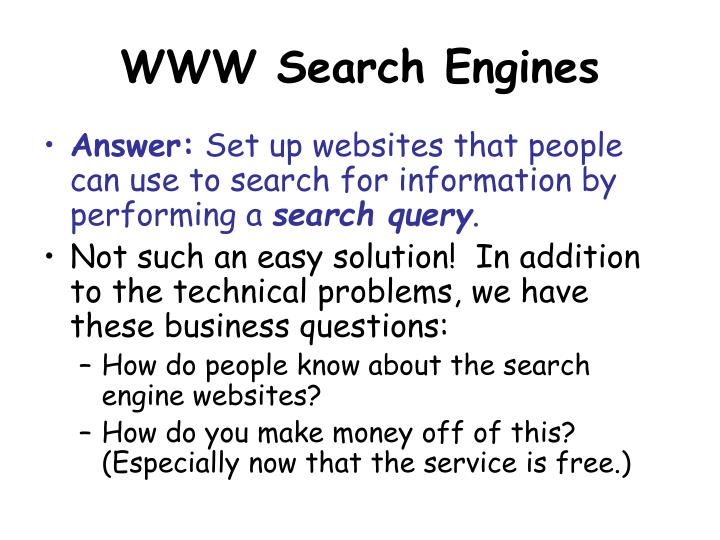 Www search engines