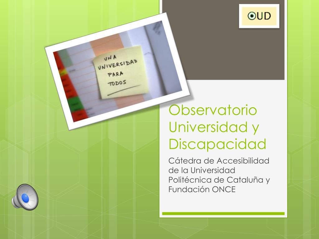 observatorio universidad y discapacidad