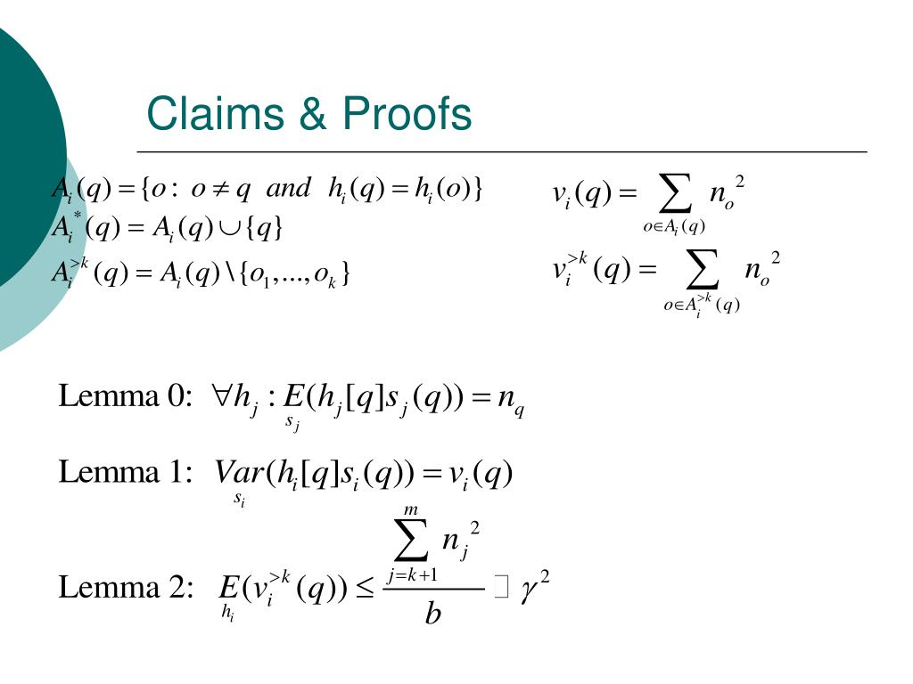 Claims & Proofs