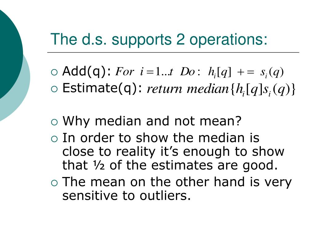 The d.s. supports 2 operations: