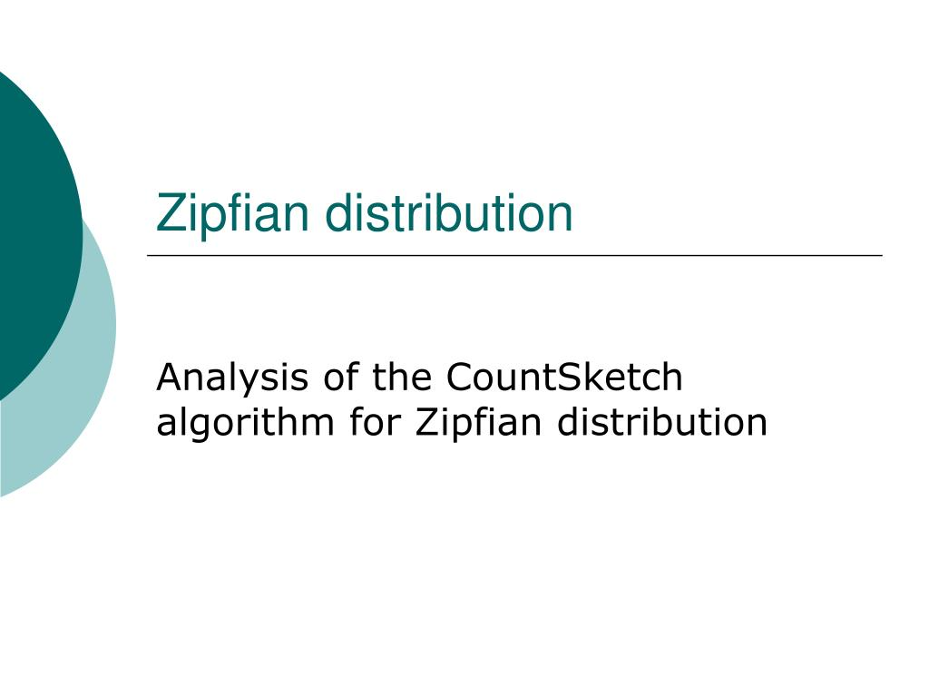 Zipfian distribution