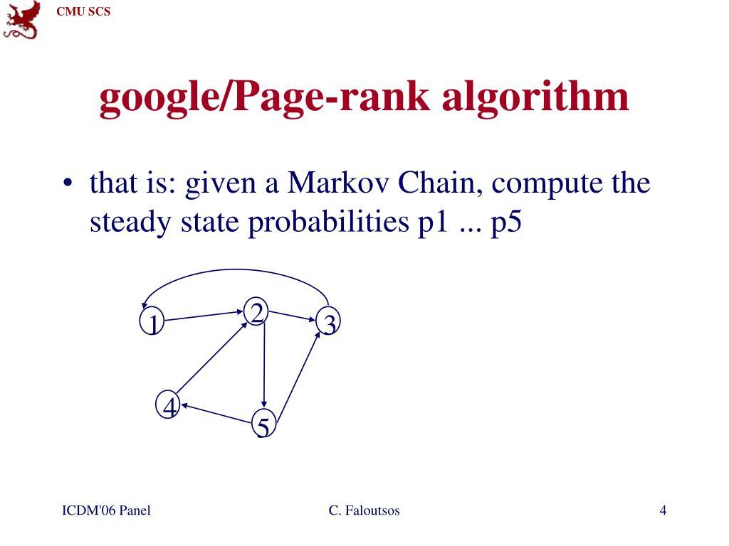 google/Page-rank algorithm