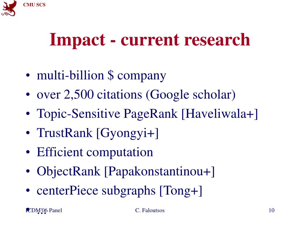 Impact - current research