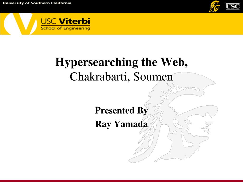 Hypersearching the Web,