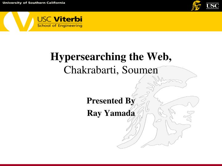 Hypersearching the web chakrabarti soumen