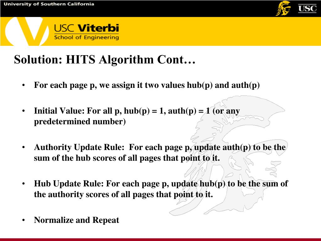 Solution: HITS Algorithm Cont…