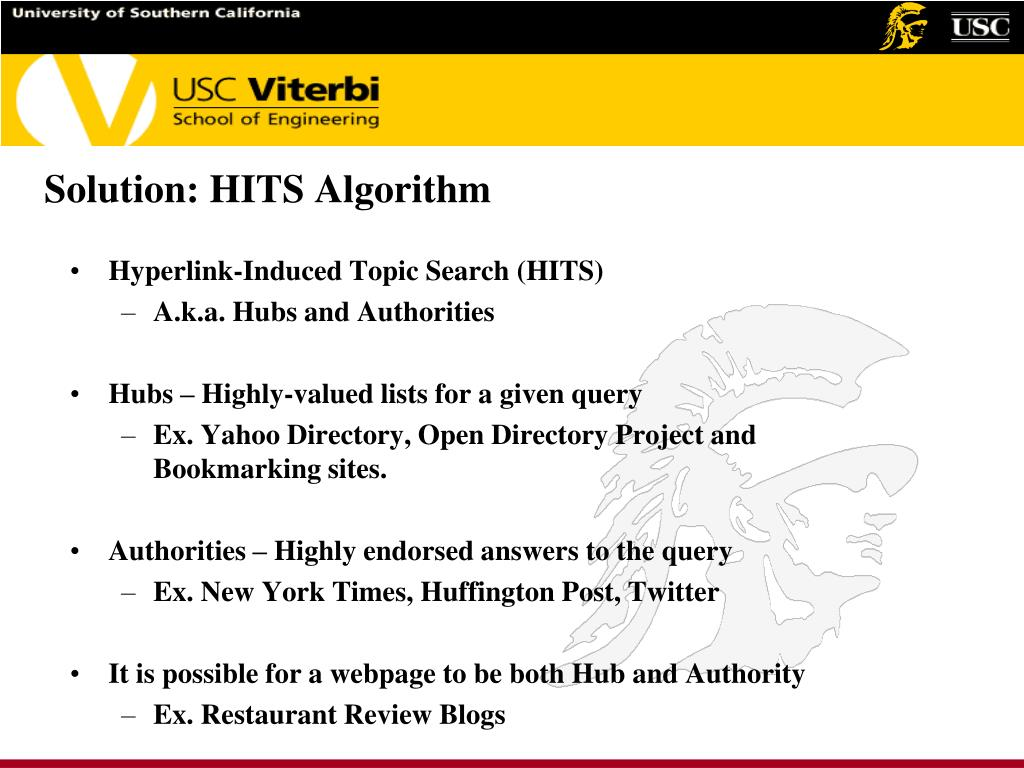 Solution: HITS Algorithm