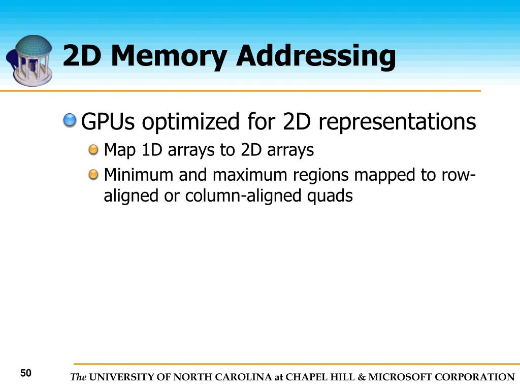 2D Memory Addressing