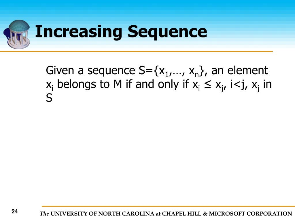 Increasing Sequence