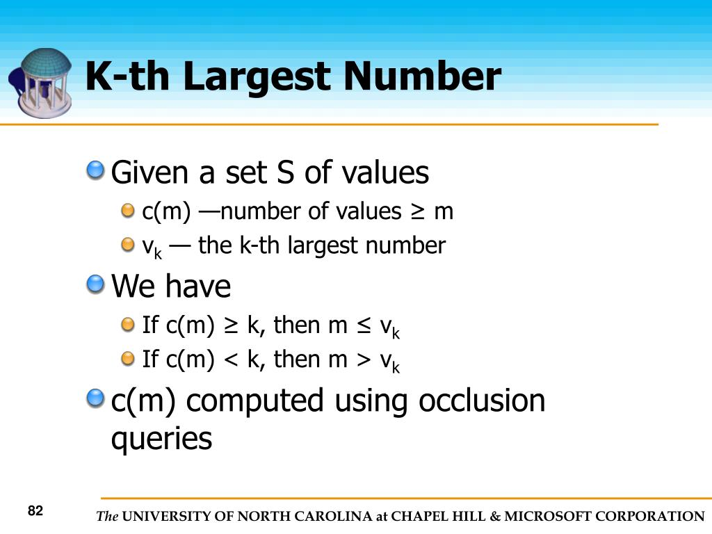 K-th Largest Number