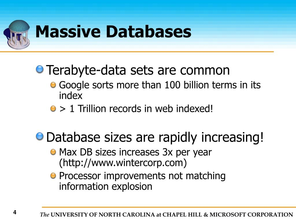 Massive Databases