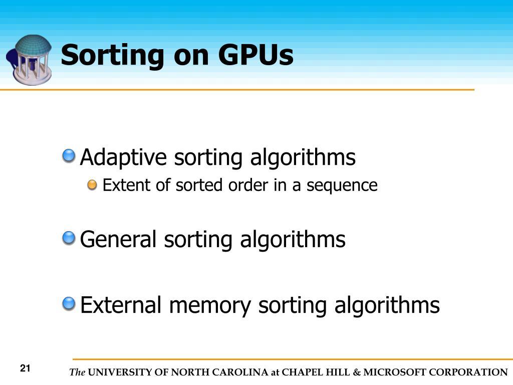 Sorting on GPUs