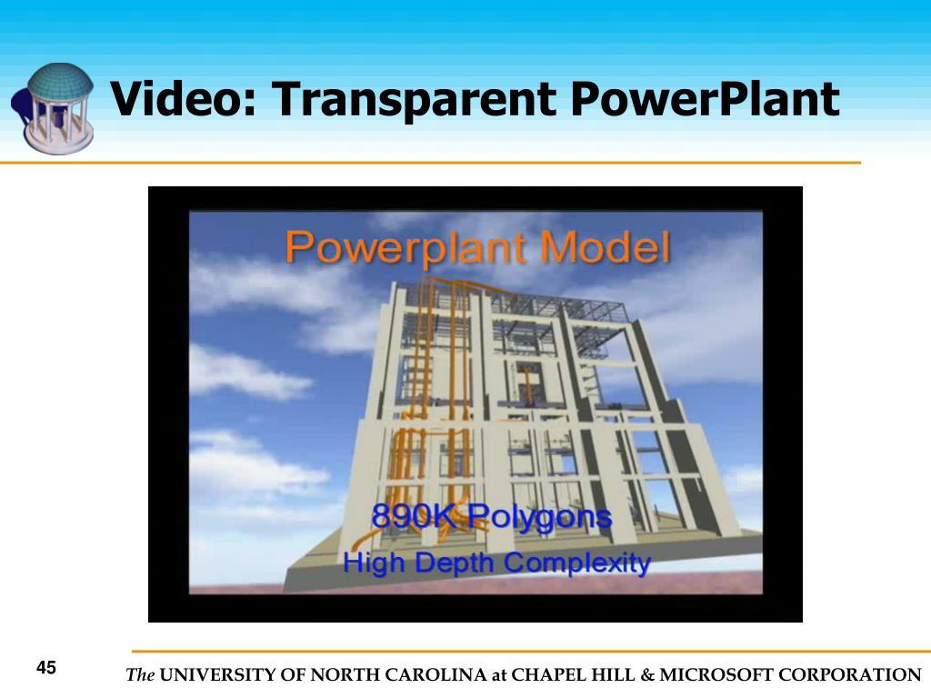 Video: Transparent PowerPlant