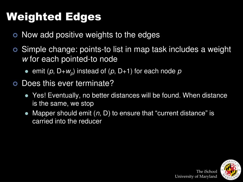 Weighted Edges