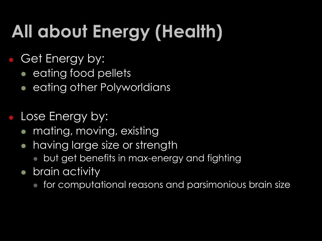 All about Energy (Health)