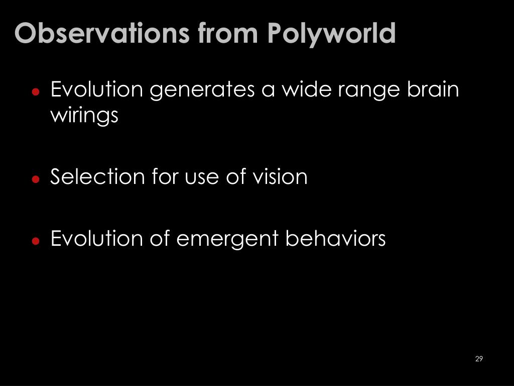 Observations from Polyworld