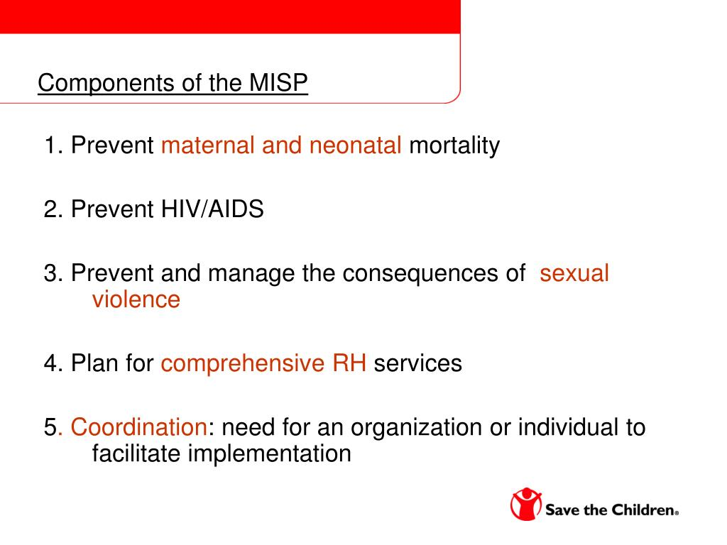 Components of the MISP