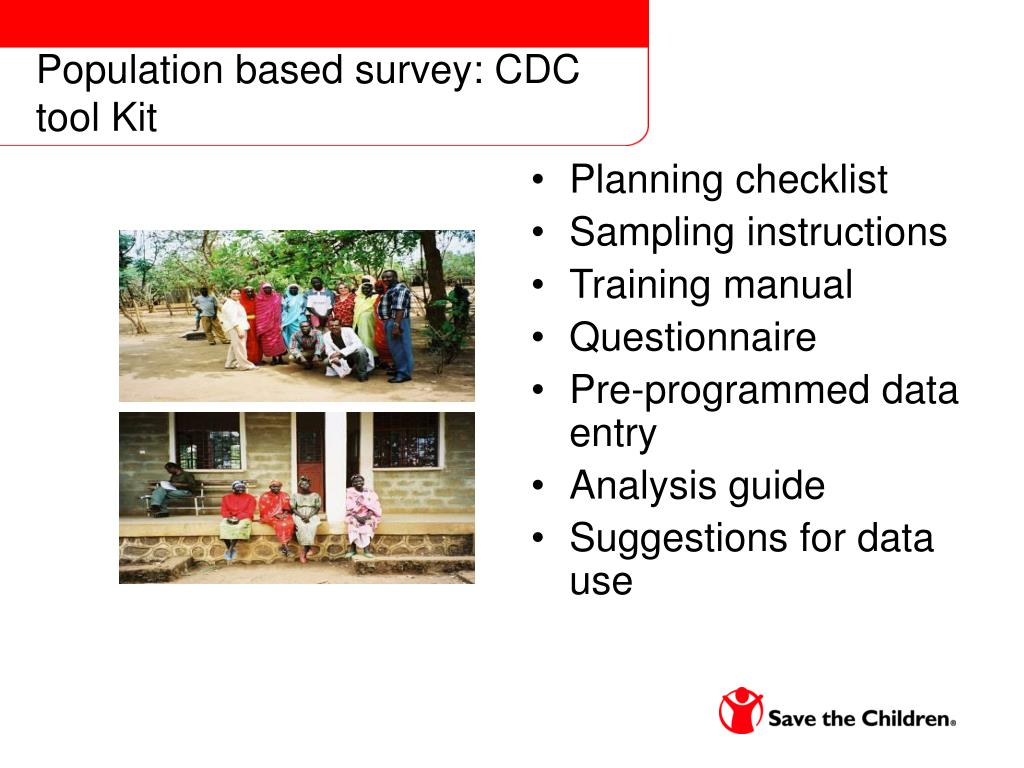 Population based survey: CDC tool Kit