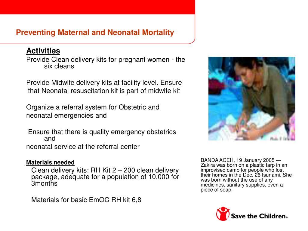 Preventing Maternal