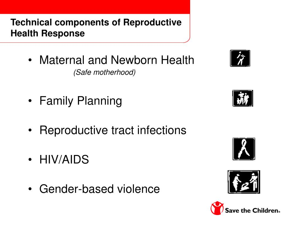 Technical components of Reproductive Health Response