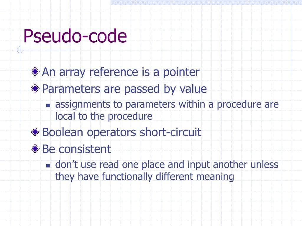 Pseudo-code