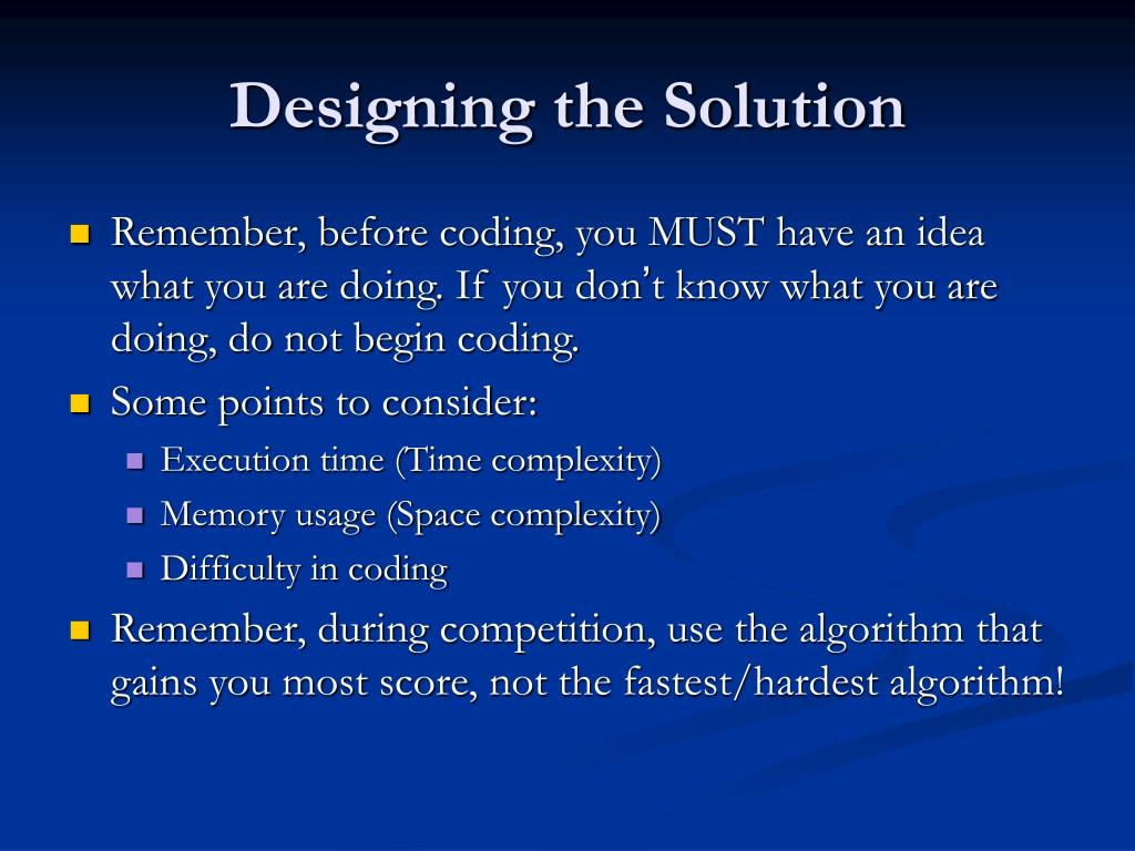 Designing the Solution
