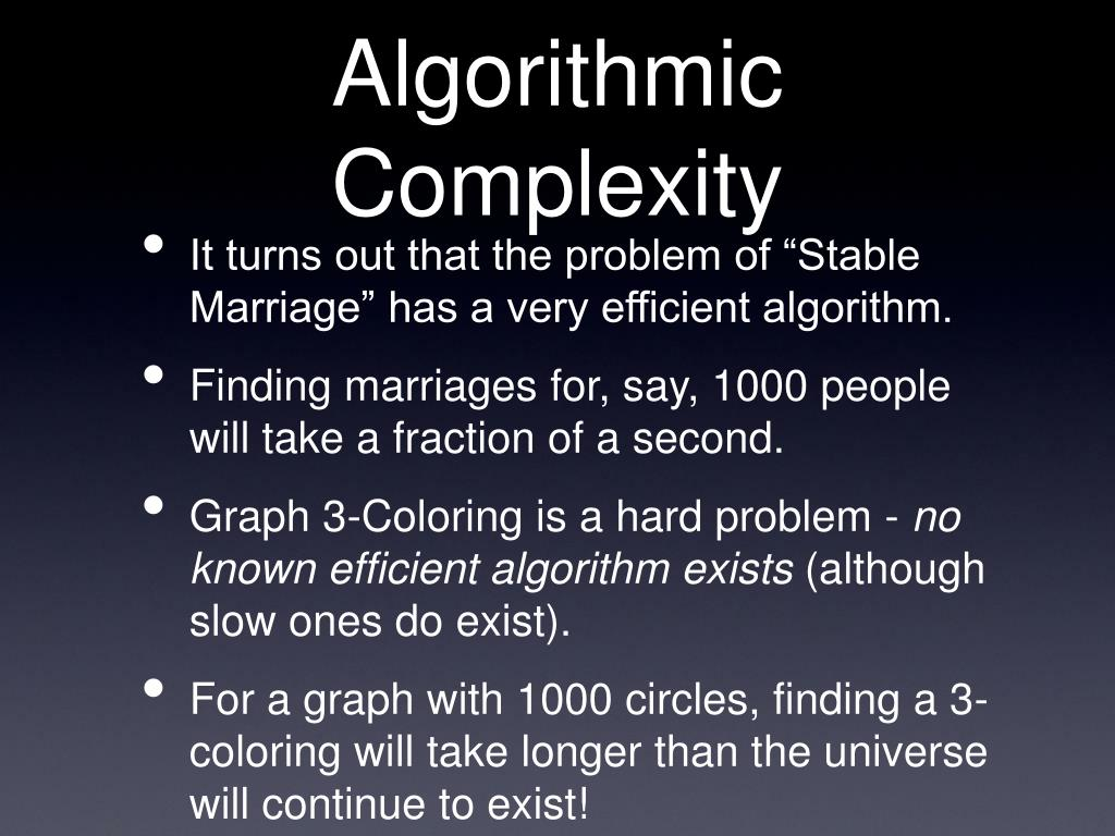 Algorithmic Complexity