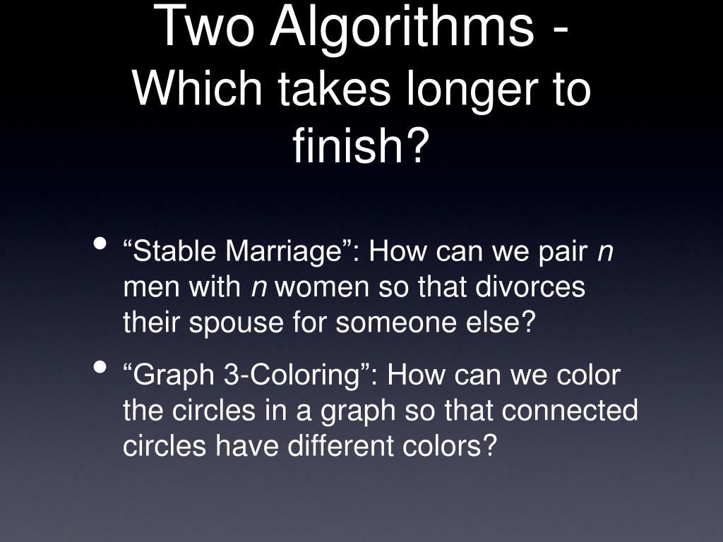 Two Algorithms -