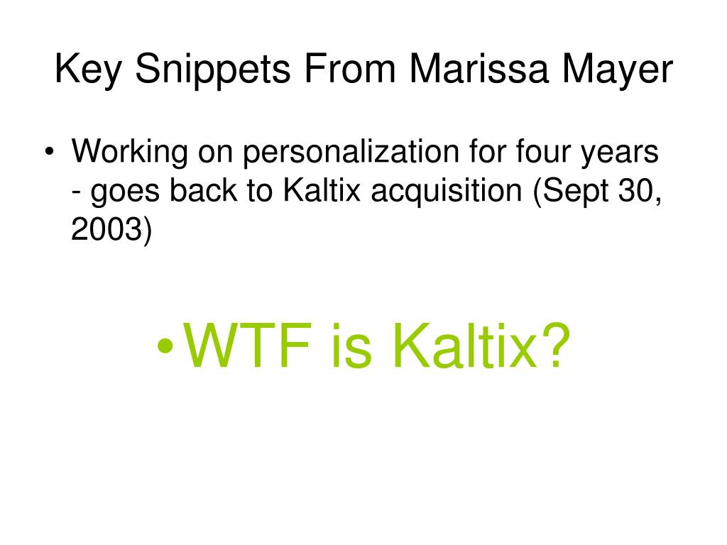 Key Snippets From Marissa Mayer