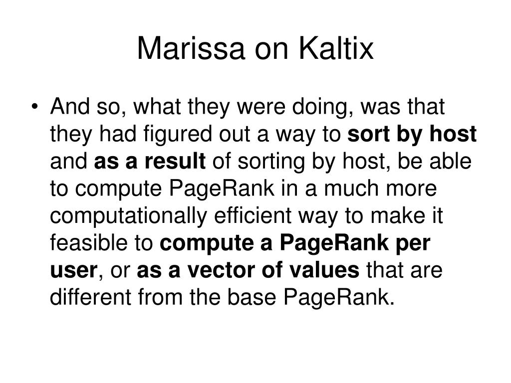 Marissa on Kaltix