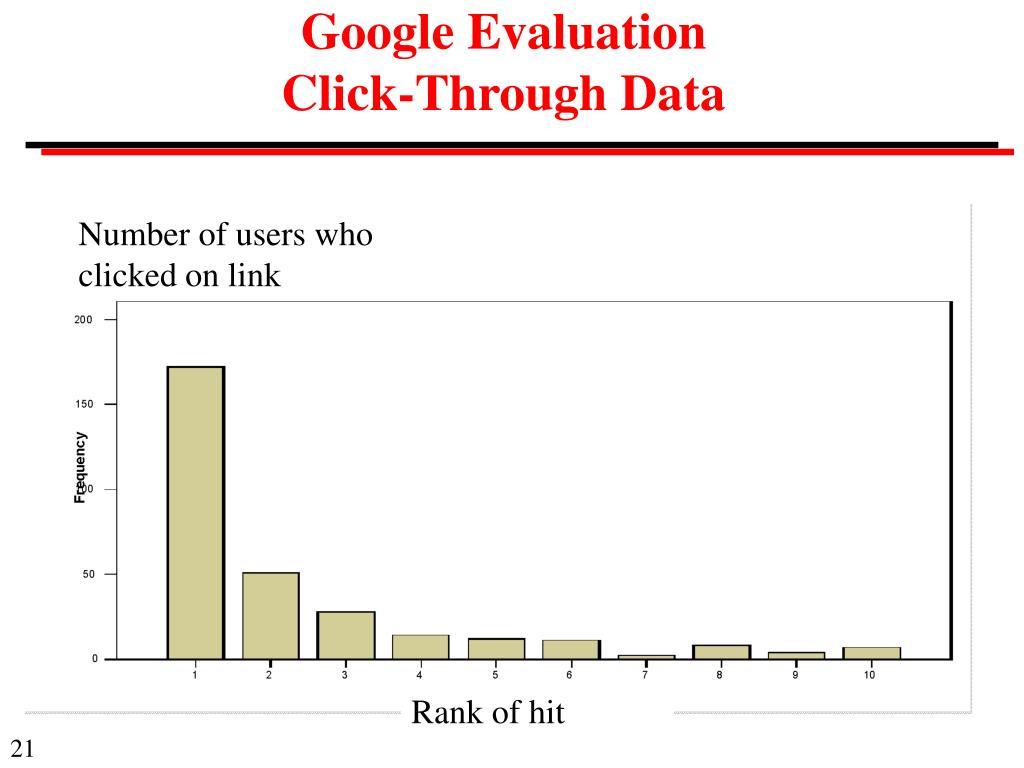 Google Evaluation