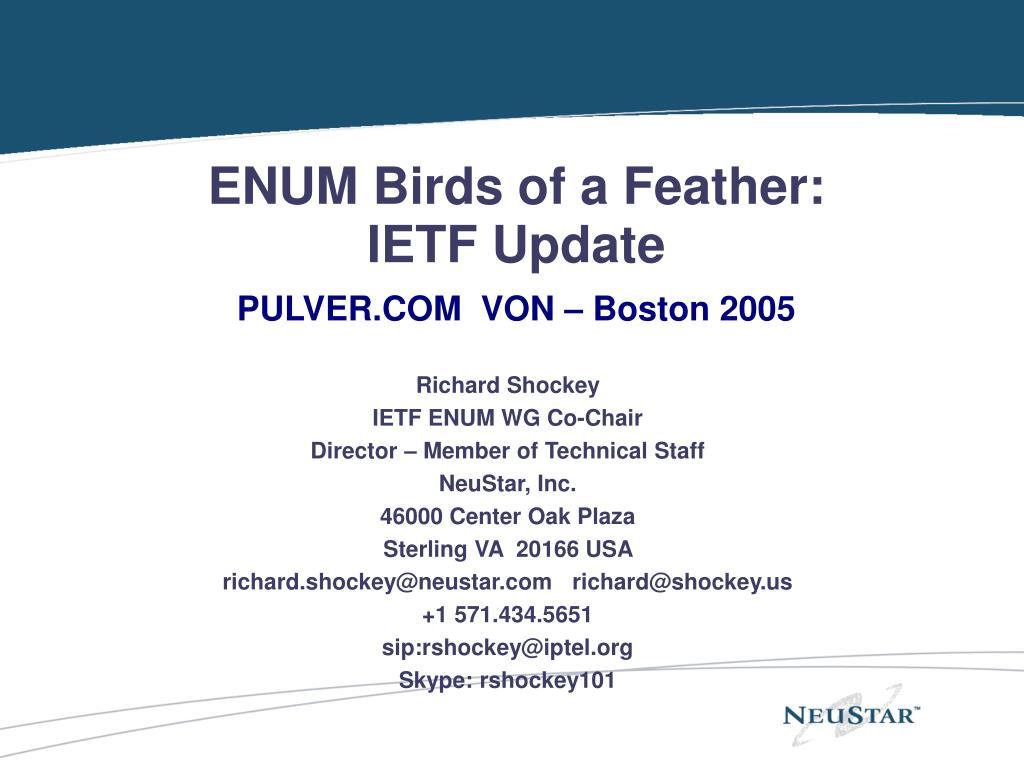 ENUM Birds of a Feather: