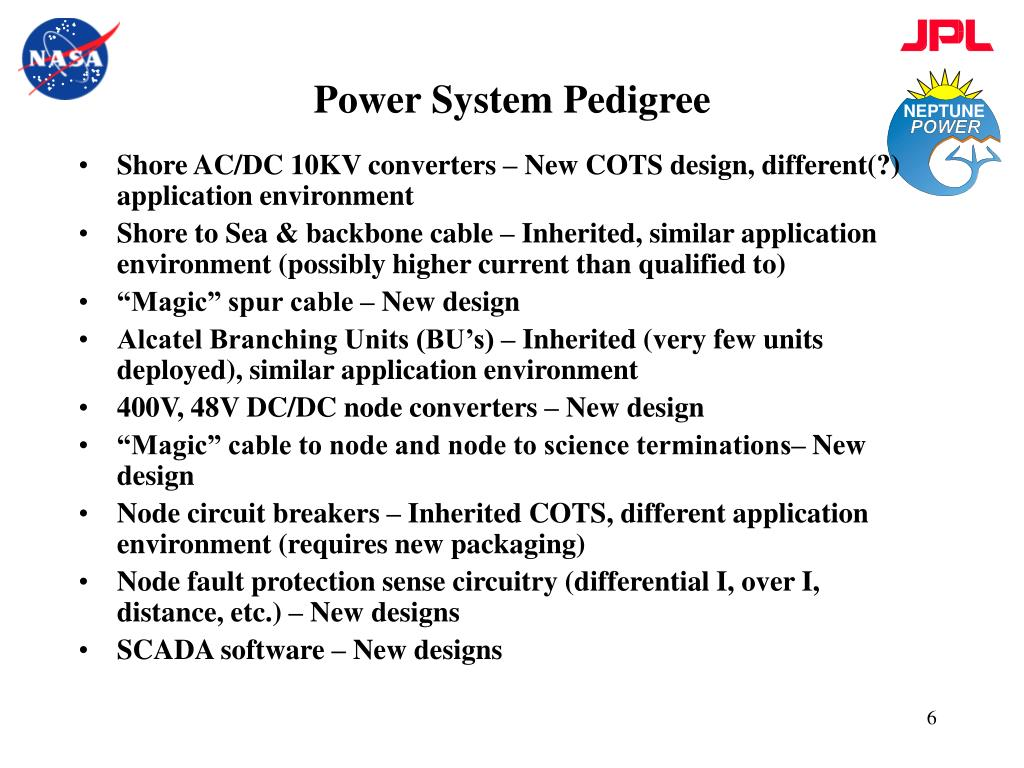 Power System Pedigree