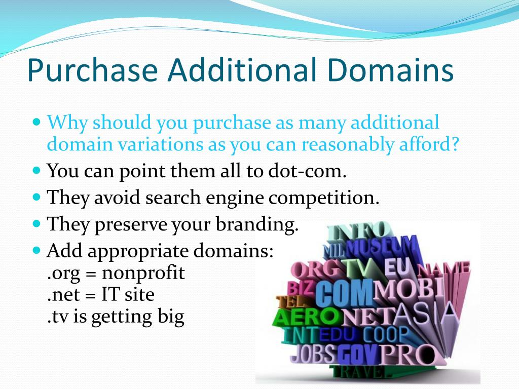Purchase Additional Domains