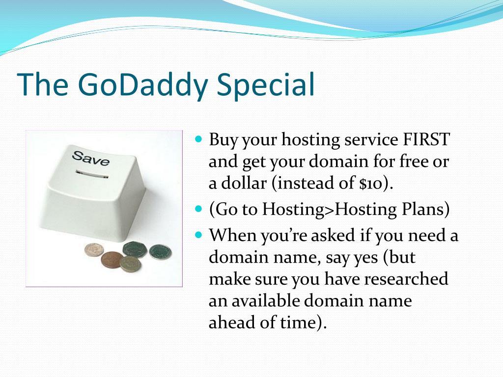 The GoDaddy Special