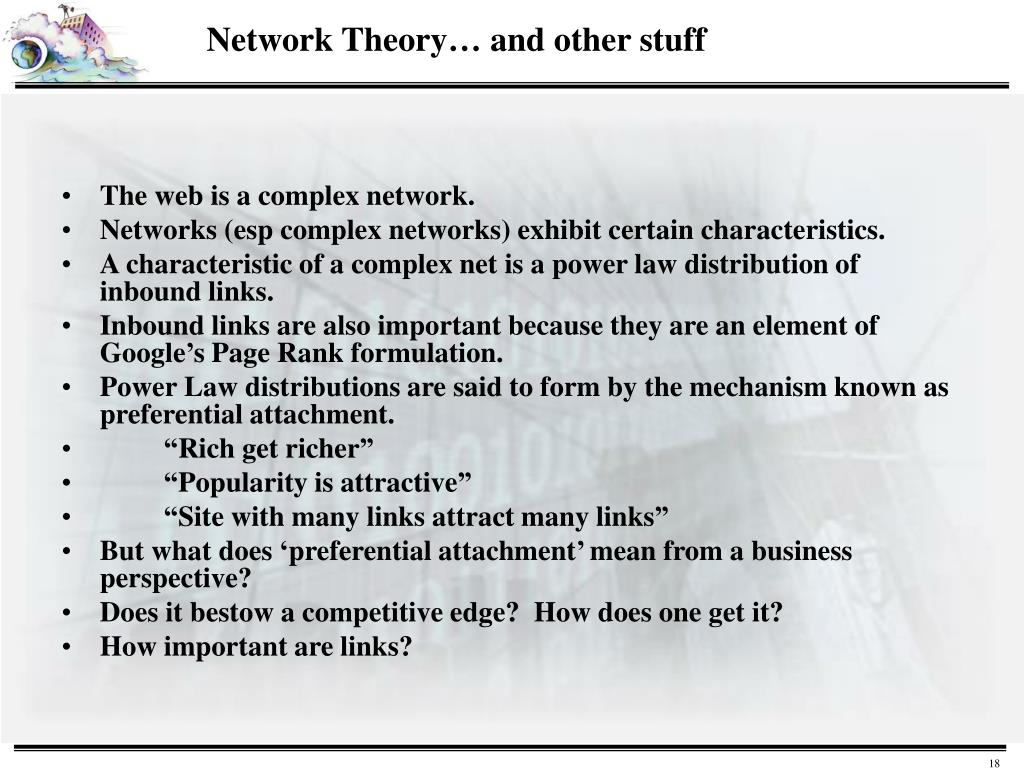 The web is a complex network.
