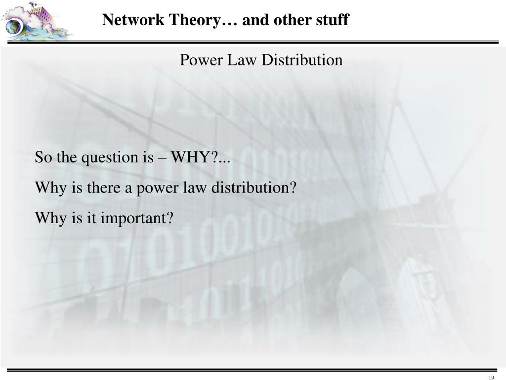 Network Theory… and other stuff