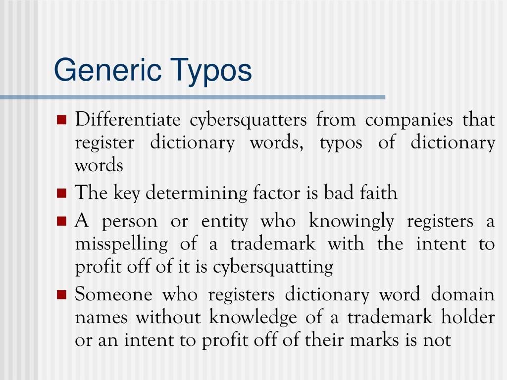 Generic Typos