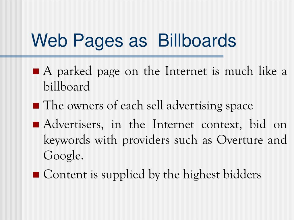 Web Pages as  Billboards