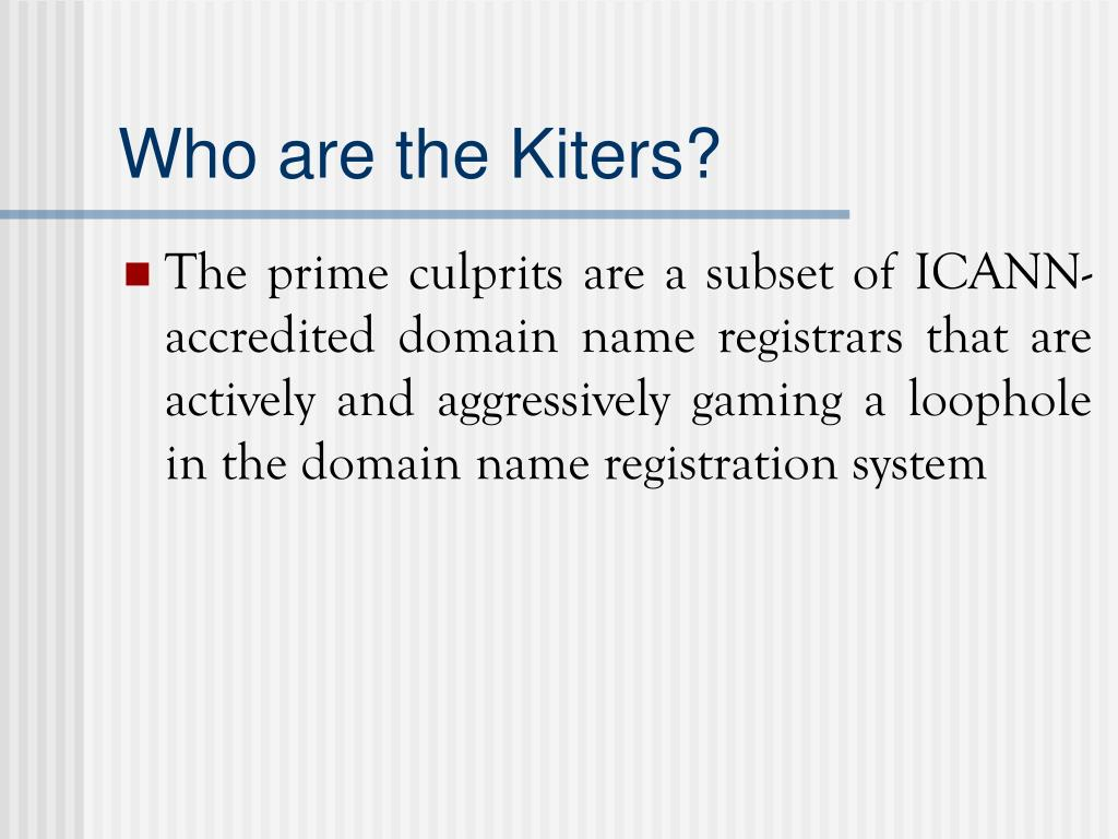 Who are the Kiters?