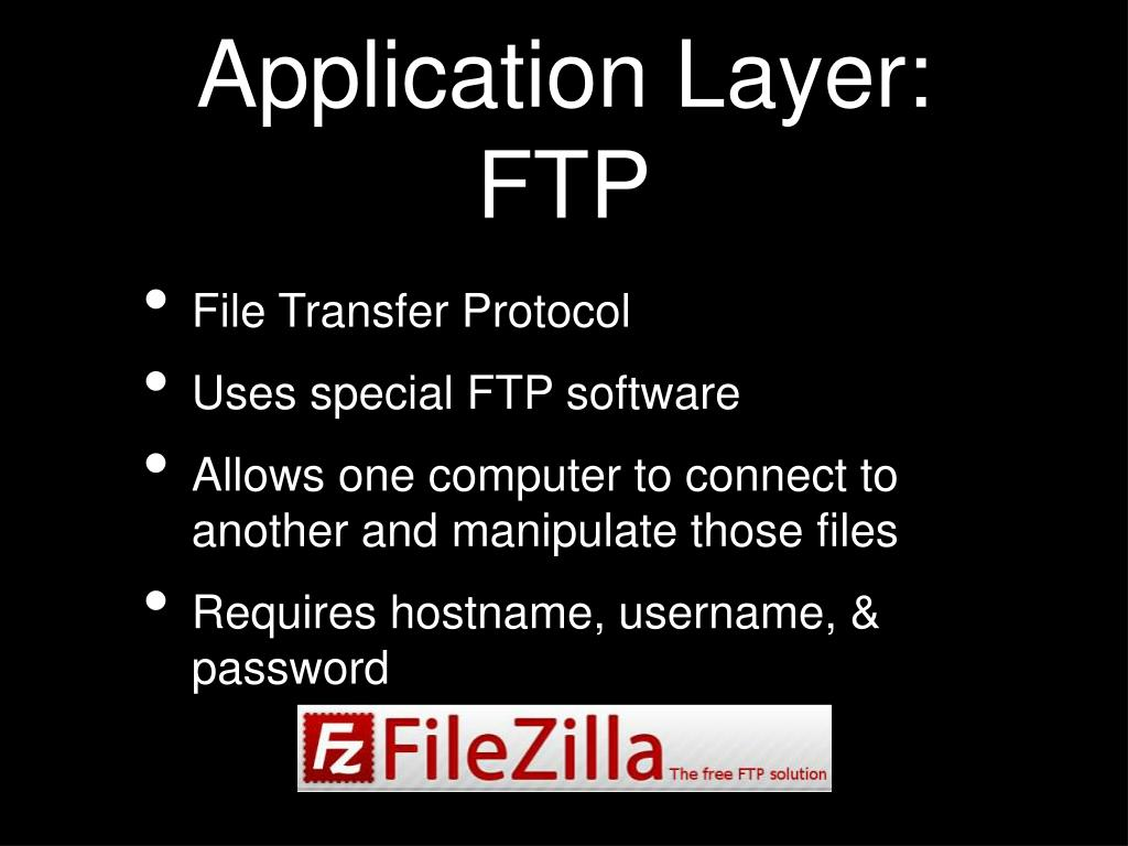 Application Layer: FTP