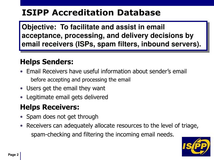Isipp accreditation database l.jpg