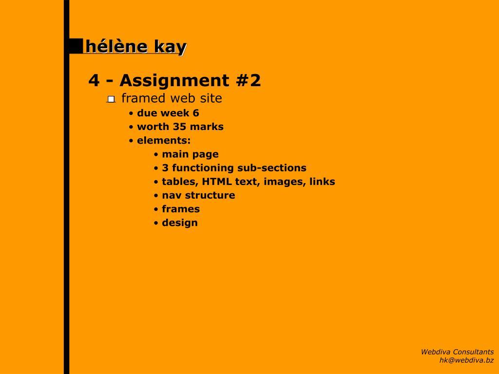 4 - Assignment #2