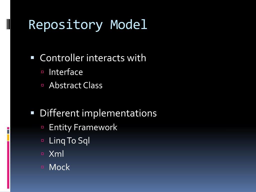 Repository Model