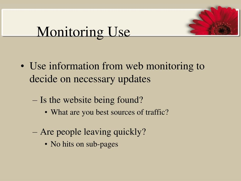 Monitoring Use