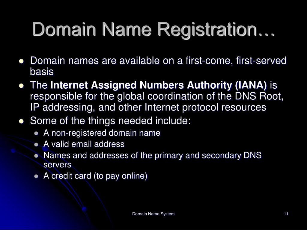 Domain Name Registration…