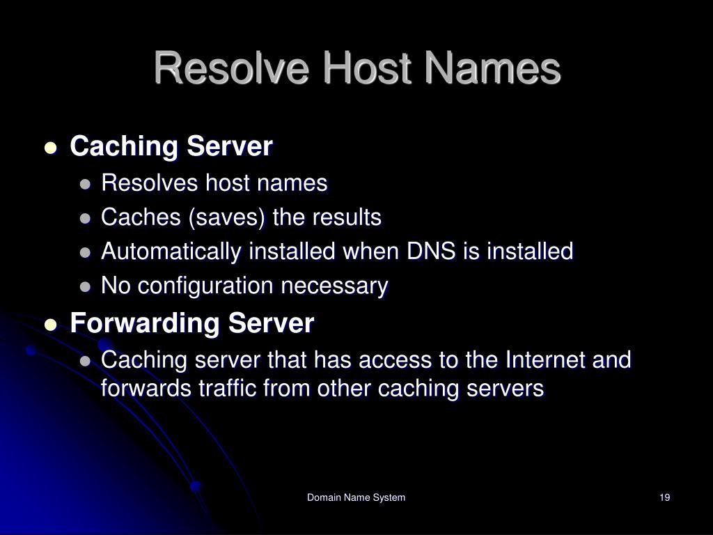 Resolve Host Names
